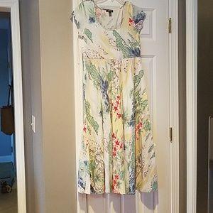 CHAPS Hawaiian print sun dress